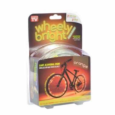 2x oranje fietsverlichting spaakverlichting led lichtslangen