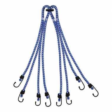 Bagagespin/snelbinders 8-armig met haken 8 x 40 cm