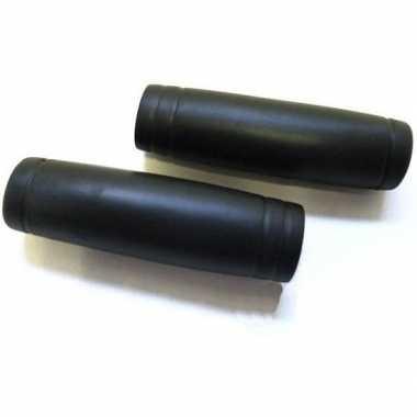 Fiets handvatten set rubber zwart 22 x 110 mm
