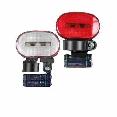 Fietslampjes set voor en achterlicht led