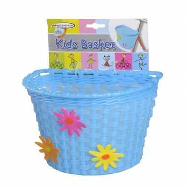 Fietsmandje blauw 20 cm voor kinderen