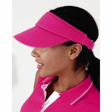 Roze sportieve zonneklep