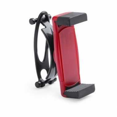 Universele mobiele telefoon houder voor fiets rood
