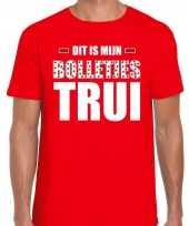 Dit is mijn bolletjes trui fun tekst t-shirt rood voor heren