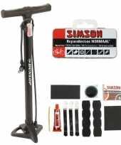 Fietsbanden repareren set fietspomp met reparatie kit