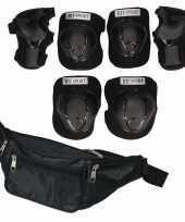 Set van heuptasje zwart 29 cm en valbescherming maat s 4 tot 5 jaar